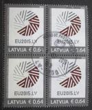 Poštovní známky Lotyšsko 2015 Prezidentství v Radě Evropy čtyřblok Mi# 928