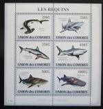 Poštovní známky Komory 2009 Žraloci Mi# 2156-61 Kat 14€