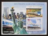 Poštovní známka Komory 2008 Americké rychlovlaky Mi# Block 441 Kat 15€