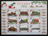 Poštovní známky Guyana 1992 Modely vlaků Mi# 3952-60