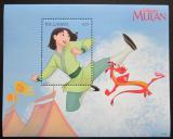 Poštovní známka Gambie 1998 Disney, Mulan Mi# Block 386 Kat 9€