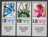 Poštovní známky Izrael 1975 Bezpečnost práce Mi# 626-28