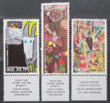 Poštovní známky Izrael 1973 Dětské kresby Mi# 573-75