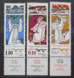Poštovní známky Izrael 1973 Proroci Mi# 593-95