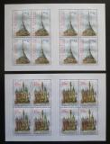Poštovní známky Česká republika 2008 Krásy naší vlasti Mi# 551-52 Bogen