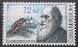 Poštovní známka Česká republika 2009 Charles Darwin Mi# 585