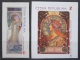 Poštovní známky Česká republika 2010 Umění, Alfons Mucha Mi# 633-34
