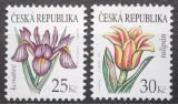 Poštovní známky Česká republika 2010 Květiny Mi# 649-50