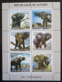Poštovní známky Guinea 2002 Sloni Mi# N/N