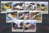 Poštovní známky Guinea-Bissau 2001 Lokomotivy Eurostar Mi# 1845-53 Kat 13€