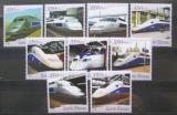 Poštovní známky Guinea-Bissau 2001 Lokomotivy TGV Mi# 1854-62 Kat 13€