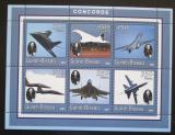 Poštovní známky Guinea-Bissau 2001 Concorde Mi# 1779-84 Kat 9€