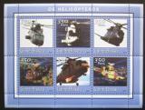 Poštovní známky Guinea-Bissau 2001 Helikoptéry Mi# 1767-72 Kat 9€