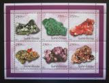 Poštovní známky Guinea-Bissau 2001 Minerály Mi# 1528-33 Kat 7€