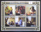 Poštovní známky Mosambik 2001 Umění, Vermeer Mi# 2121-26 Kat 11€