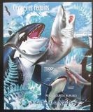 Poštovní známka Burundi 2012 Velké ryby neperf. Mi# Block 243 B