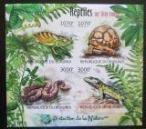 Poštovní známky Burundi 2012 Obojživelníci a plazi neperf. Mi# 2560-63 B