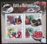 Poštovní známky Burundi 2012 Pěstování kávy Mi# 2645-48 Kat 10€