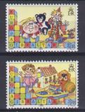 Poštovní známky Gibraltar 1989 Evropa CEPT, dětské hry Mi# 563-64