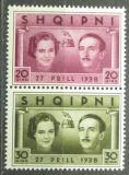 Poštovní známky Albánie 1938 Královský pár Mi# 272-73 Kat 24€