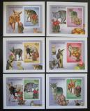 Poštovní známky Guinea-Bissau 2010 Kojoti a kaktusy neperf. DELUXE Mi# 5009-14 B