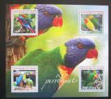 Poštovní známky Niger 2014 Papoušci Mi# 2942-45 Kat 12€