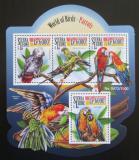 Poštovní známky Sierra Leone 2015 Papoušci Mi# 6588-91 Kat 11€