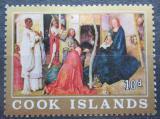 Poštovní známka Cookovy ostrovy 1966 Vánoce, umění Mi# 127