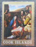Poštovní známka Cookovy ostrovy 1966 Vánoce, umění Mi# 128