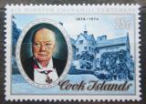 Poštovní známka Cookovy ostrovy 1974 Winston Spencer Churchill Mi# 440