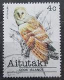 Poštovní známka Aitutaki 1981 Sova pálená Mi# 377