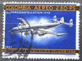 Poštovní známka Kolumbie 1966 Letadlo Superconstellation 1049 Mi# 1088