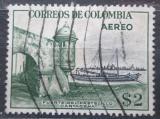 Poštovní známka Kolumbie 1954 Přístav Cartagena Mi# 681