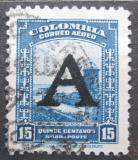 Poštovní známka Kolumbie 1950 Španělská pevnost přetisk Mi# 568