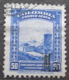 Poštovní známka Kolumbie 1951 Španělská pevnost přetisk Mi# 607