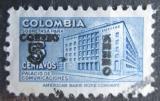Poštovní známka Kolumbie 1953 Budova pošty v Bogotě přetisk Mi# 652