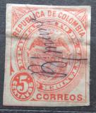 Poštovní známka Santander, Kolumbie 1886 Státní znak Mi# 5