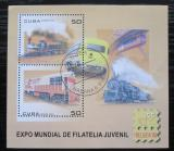 Poštovní známky Kuba 2006 Lokomotivy Mi# Block 218