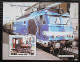 Poštovní známka Kuba 2005 Lokomotivy Mi# Block 201
