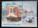 Poštovní známka Kuba 2007 Lokomotivy Mi# Block 229