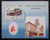 Poštovní známka Kuba 1996 Výstava ESPAMER, lokomotiva Mi# Block 146
