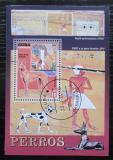 Poštovní známka Kuba 2010 Psi a umění Mi# Block 275