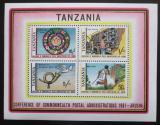 Poštovní známky Tanzánie 1981 Poštovní konference Mi# Block 25