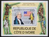 Poštovní známka Pobřeží Slonoviny 1976 Americká revoluce, 200. výročí Mi# Block 6