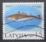Poštovní známka Lotyšsko 2002 Treska obecná Mi# 574