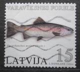 Poštovní známka Lotyšsko 2004 Pstruh duhový Mi# 615