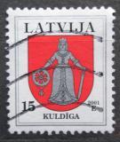 Poštovní známka Lotyšsko 2001 Znak Kuldiga Mi# 542 A I
