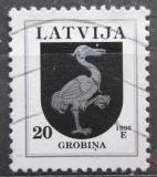 Poštovní známka Lotyšsko 1996 Znak Grobina Mi# 401 II