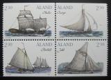 Poštovní známky Alandy, Finsko 1995 Plachetnice Mi# 95-98