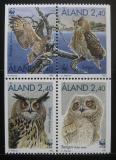 Poštovní známky Alandy, Finsko 1996 Výr velký Mi# 109-12